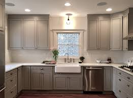 modern grey cabinets gtime niles chicago kitchen