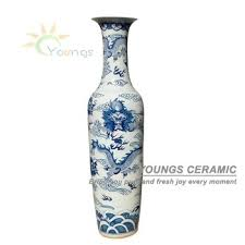 Hand Painted Chinese Vase 2 2 Meter And 6 Feet Tall Hand Painted Large Chinese Ceramic Floor