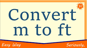 convert meter to foot m to ft formula example conversion