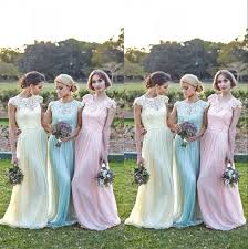 aliexpress com buy lace short sleeves bridesmaid gown navy blue