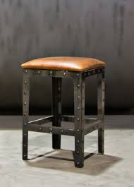 kitchen bar stools backless furniture brown leather cushions backless bar stools with steel
