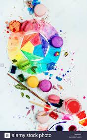 macaron food sweet color wheel art artist palette watercolor paint