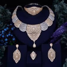 zirconia necklace set images Godki luxury women nigerian wedding naija bride cubic zirconia jpg