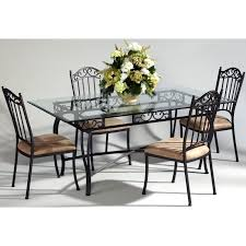 wrought iron tables for sale have to have it chintaly bethel 5 piece rectangular wrought iron