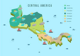 America Central Map by Central America Map With Weather Vector Illustration Download