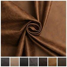 Distressed Leather Upholstery Fabric By The Metre Faux Leather Upholstery Craft Fabrics Ebay