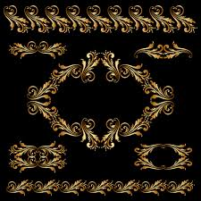 luxury golden ornaments illustration vector 01 vector ornament