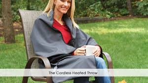 Faux Fur Electric Throw The Cordless Heated Throw Youtube