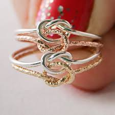 what does a knot ring 10kt gold and argentium 935 sterling silver classic knot ring