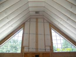 Insulating Vaulted Ceilings by Blown In Wall System Liberty Insulation