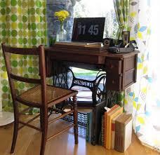 Singer Sewing Machine Desk Vintage Repurposed Sewing Machines