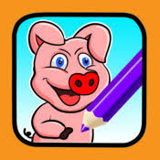 kids colouring book drawing pig animal game app store