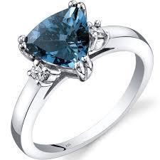 london blue topaz engagement ring london blue topaz diamond ring 14k white gold r62356 peora