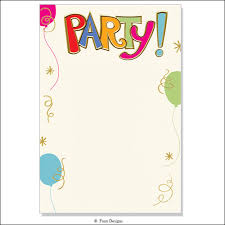 blank invitations celebration party multicolor birthday party invitations