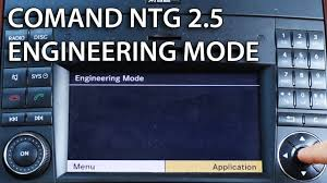 how to enter engineering mode in mercedes comand aps ntg 2 5