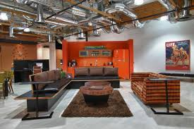 Living Room Office Ideas by Fall Into Orange Living Room Accents For All Styles Industrial