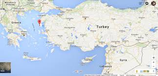 Greece Turkey Map by Lesvos The Lyceum
