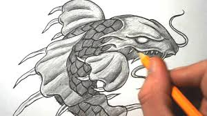 how to draw a dragon koi fish quick sketch youtube