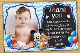 mickey mouse thank you cards thank you cards mickey mouse 1st birthday thank you cards luxury