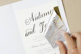 printing wedding invitations gold foil printing how to diy foil wedding invitations diy gold