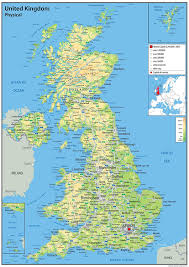 Counties Of England Map by A0 Paper Laminated Uk Physical Map Ga Giant Size Amazon Co