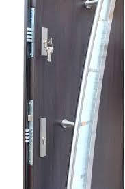 modern stainless steel exterior door