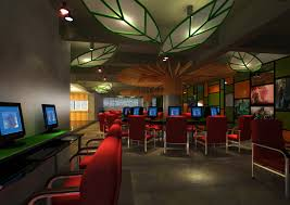 cyber cafe with decor interior 3d model cgtrader cyber cafe with decor interior 3d model max 1