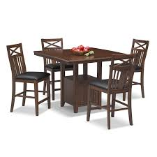 natchez trail 5 pc counter height dining room american