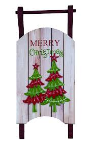 large rustic wooden sleigh wall hanging