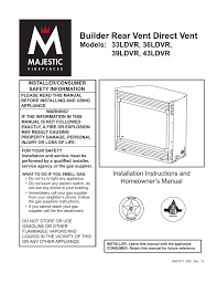 Cfm Corporation Fireplace by Vermont Castings 36ldvr Operating Instructions