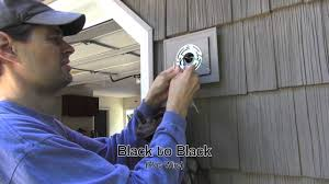 install outdoor garage lights exterior light installation on vinyl siding block youtube