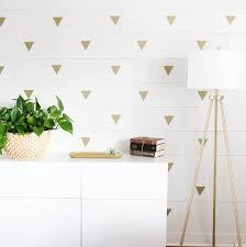 quick diy project idea gold triangle faux wallpaper paper riot