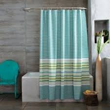 Blue And Green Shower Curtains Green Striped Shower Curtain Foter