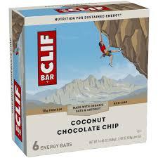 clif bar coconut chocolate chip energy bars 6 2 40 oz bars