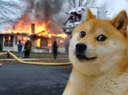 Doge Meme Template - disaster doge remember to monitor your gpu cpu temperatures