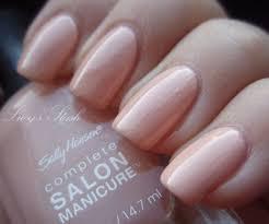 sally hansen light pink cream nail polish color 210