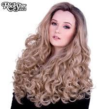 dark roots blonde hair lace front curly dark roots light medium blonde mix 00562