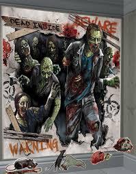graveyard halloween grim reaper scene setters posters scary wall