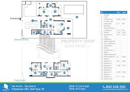 floor plan of yas acres yas island
