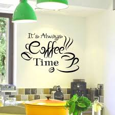 Amazon Com Dandelion Wall Decals by Wall Decals Vinyl Sticker Quote It U0027s Always Coffee Time Cup