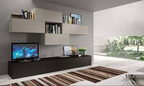 interior design cozy striped rugs with exciting modern wall units
