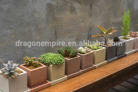 Concrete Rectangular Planter by Concrete Succulent Plants Pots Square Concrete Succulents Planters