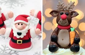 Christmas Cake Decorating Books by 40 Christmas Cake Ideas Fondant Christmas Cake Decorations