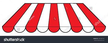 Striped Awning Striped Awning Stock Illustration 340166174 Shutterstock