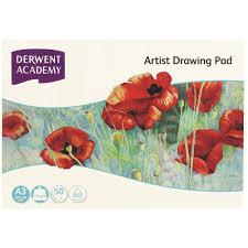 derwent academy a3 drawing pad landscape 50 sheet officeworks