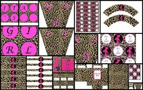 leopard print party supplies printable party decorations cheetah leopard baby shower theme