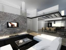interior modern homes stock photo beautiful modern house in cement interiors view from