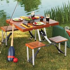 Wooden Folding Picnic Table Wooden Picnic Table Folds Into A Briefcase Wooden Picnic Tables