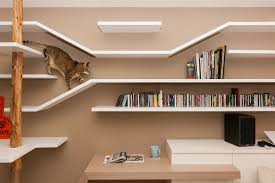 new wall mounted furniture suits people and their cats design
