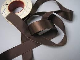 brown ribbon vintage 30s brown ribbon rayon satin seven eighths inch width